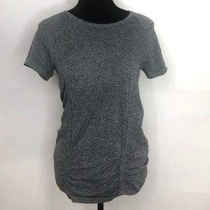 Athleta gray ruched short sleeve size M